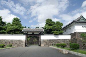 Sakurada gate of Imperial palace in Tokyo Japan