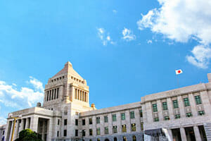 Parliament building of Japan